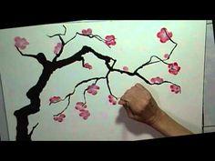 Chinese plum blossom brush painting