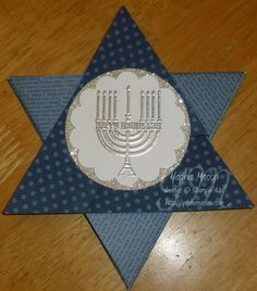Stampin' Up! Origami Jewish Star Card 1 (closed)