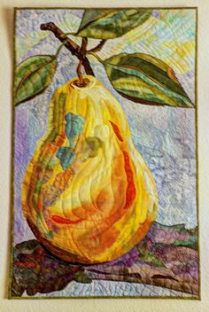 Painterly Pear by Sue Van Vorhees. The Art Quilt Association.