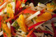 Jicama and Orange Salad with lime, cilantro, and jalapeno -- perfect for Phase 1.