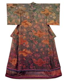 "Itchiku Tsujigahana. One of the famous Kimonos, made by master Kubota in the old Tsujigahana ""Tie-Dye"" technic."