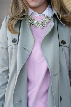 Love this whole look!! Wish I could afford!! ha - J.Crew Trench Coat