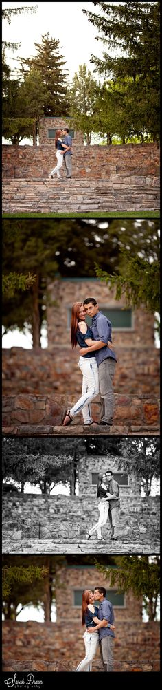Kelsie & Leo Wedding Engagement Photo at American Fork Amphitheater