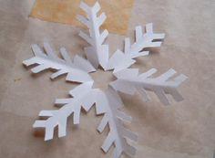 Sneeuwkristallen knippen, met werkbeschrijving.