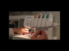 Brother 2340 Coverstitch- how to lock stitches - YouTube