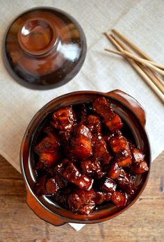 Shanghai Style Braised Pork Belly, hong shao rou 上海红烧肉