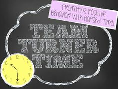 One Lesson at a Time: Team Turner Time! {Promoting Positive Behavior with Elapsed Time}