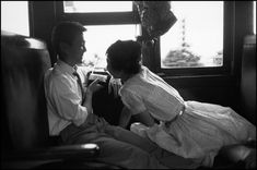 - there is something about train pictures..- TOKYO—A young couple on a train to Kamakura, 1961.  © Rene Burri / Magnum Photos
