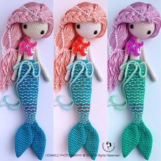 Three different match colors mermaid, Ava艾娃