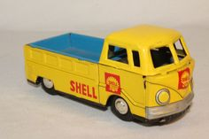1960's Made in Japan, Shell Oil Volkswagen Drop Side Pickup Truck, Nice Original