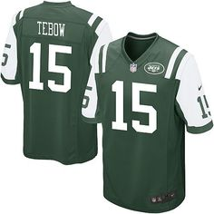 NFL New York Jets Nike #15 Tim Tebow Green Jersey