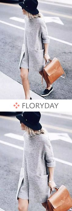 Shop Floryday for affordable Dresses. Floryday offers latest ladies' Dresses collections to fit every occasion. Dresses Short, Casual Dresses, Casual Outfits, Cute Outfits, Dress Long, Spring Dresses, Look Fashion, Winter Fashion, Womens Fashion