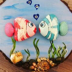 Painted rocks diy - Talent and imagination 25 creative diy ideas for transforming pebbles in decorative objects – Painted rocks diy Pebble Painting, Pebble Art, Stone Painting, Painting Art, Seashell Crafts, Beach Crafts, Stone Crafts, Rock Crafts, Rock And Pebbles