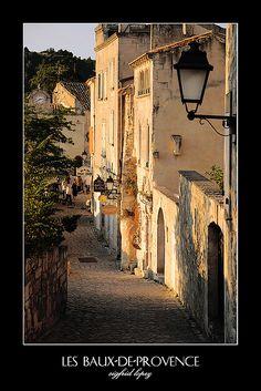 Les Baux-de-Provence, a medieval castle and village in Southern France.