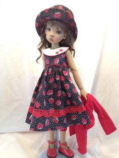 Ladybug Sundress for MSD by WeedesignsDollCloset on Etsy