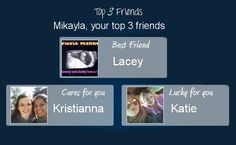 Check my results of Your Top 3 Friends? Facebook Fun App by clicking Visit Site button
