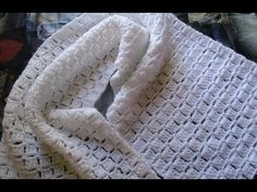 Crochê cachecol muito facil branco - YouTube