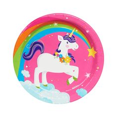 Fairytale Unicorn Party Dessert Plates (8) from BirthdayExpress.com