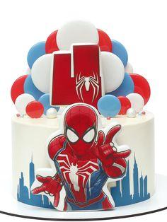 Avengers Birthday Cakes, Pink Birthday Cakes, Spiderman Cookies, Spiderman Pasta, Cake Decorating Designs, Cake Designs, Avenger Cake, Birthday Themes For Boys, Cake Craft