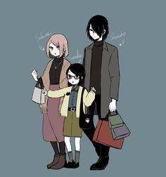 Naruto Uzumaki, Anime Naruto, Boruto And Sarada, Sasuke Sakura Sarada, Naruto Cute, Naruto Funny, Naruto And Sasuke, Kakashi, Naruto Family