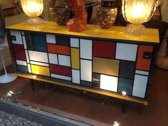 Mondrian inspired furniture. (via Kelly Wearstler   Kelly Wearstler, Inc.)