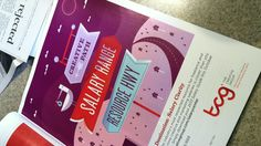 Ad in GD USA from The Creative Group. Love the design! Color, type, illustration elements :)