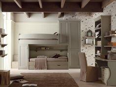 Habitación para niños/niñas con armario puente NUOVO MONDO N11 Colección Nuovo Mondo by Scandola Mobili