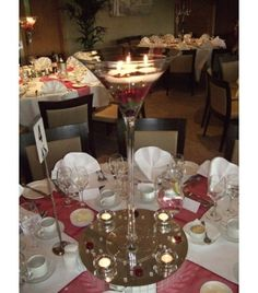 Centre de table on pinterest mariage voyage and vase - Centre de table verre martini ...