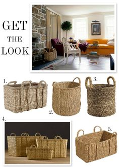 Our 5 favorite seagrass baskets www.goodbonesgreatpieces.com