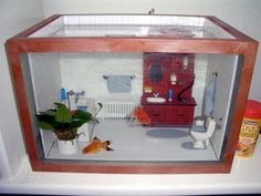 Lol! Bathroom themed fish tank