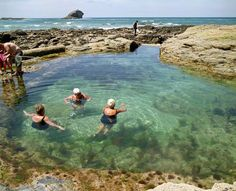 Natural sea pools of Cornwall