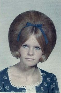 A girl with big hair in 1969