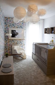 beautiful, functional, bright and full of charm nursery ! Ideas Habitaciones, Baby Bedroom, Baby Rooms, Baby Love, Baby Kids, Kids Room, Toddler Bed, Nursery, Architecture