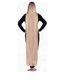 hot blonde babe with beautiful sexy hair that is as long as she is tall Nice...this looks like JJJ.