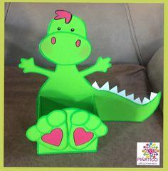 Cajita para dulces de dinosaurio