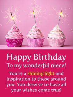 Best Birthday Quotes : May Your Wishes Come True - Happy Birthday Card for Niece - Quotes Boxes