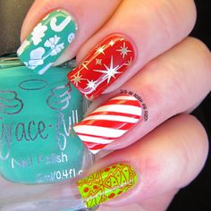 It's all about the polish: Christmas Gift Wrap Nails