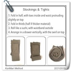KonMari Method: Stockings & Tights