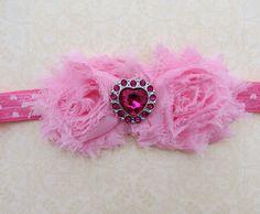 Valentine's Headband Baby headband Pink by PaisleyslilPretties