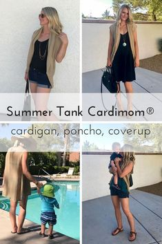 Summer Tank Cardimom that can be worn as a vest/cardigan and a poncho. It's a great wardrobe staple. Professional Maternity Clothes, Casual Maternity, Maternity Fashion, Pregnancy Fashion, Winter Outfits, Summer Outfits, Nursing Tops, Nursing Covers, Summer Cardigan