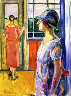 """Edvard Munch, """" Two Women on the Veranda"""", 1924 on ArtStack #edvard-munch #art"""