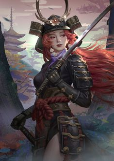 samurai warriors 4 natori li at DuckDuckGo Fantasy Girl, Chica Fantasy, Fantasy Warrior, Fantasy Women, Fantasy Samurai, Female Samurai Art, Samurai Concept, Ronin Samurai, Samurai Anime