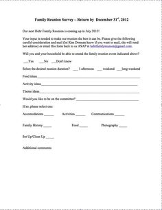 survey for family reunion google search family reunion themes the reunion family reunions