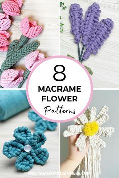Learn how to make beautiful Macrame flowers with 8 amazing free Macrame patterns by Simply Inspired. From lavender and tulips to daisies and forget-me-nots, these Macrame flowers will stay perfect forever! Macrame Flowers? Simply follow the steps in these beginner-friendly tutorials and knot yourself a pretty bouquet of Macrame lavender, tulips, and sunflowers. #macrame #macrameforbeginners #flowers #crafts #diy Free Macrame Patterns, Flower Patterns, How To Make Everything, Macrame Supplies, Daisies, Sunflowers, Tulips, Macrame Cord, Macrame Tutorial