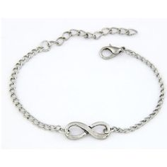 "Silver infinity bracelet Silver infinity bracelet. Total chain length is 9"". Clasp closure with extender.                                                             Price is firm unless bundled. No trades⭐️This is a retail item. It is brand new either with manufacturers tags, boutique tags, or in original packaging.                                                AVAILABILITY- 5All jewelry gets a great discount when bundled!! Boutique Jewelry Bracelets"