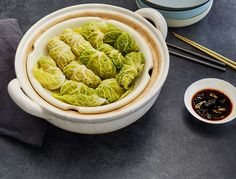 GP was really craving some clean dim sum, so she thought of using cabbage leaves as wrappers instead of wheat or grain-based dough. Now were obsessed this clean dumpling hack. Serve these on their own …