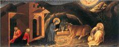 Adoration of the Magi Altarpiece, left hand predella panel depicting the Nativity - Gentile da Fabriano