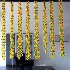 2.3m Artificial Sunflower Garland Flower Vine for DIY Home Wedding Floral Decor Free Shipping MA1653 #Affiliate