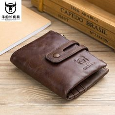 726c0289be5 High Capacity Men Genuine Leather Cowhide Wallet Bifold Coin Hi-Q Card  Holder  fashion