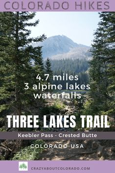 "One of our favorite ""off the beaten path"" trails we've happened upon. Three Lakes Trail, located on beautiful Kebler Pass near Crested Butte, Colorado USA Adventure Awaits, Adventure Travel, Colorado Usa, Colorado Hiking, Colorado Mountains, Colorado Springs, Appalachian Mountains, Snowshoe, Rafting"